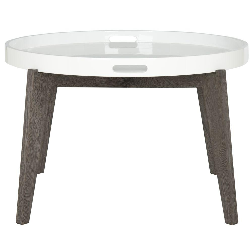 Safavieh Echo White and Dark Brown End Table