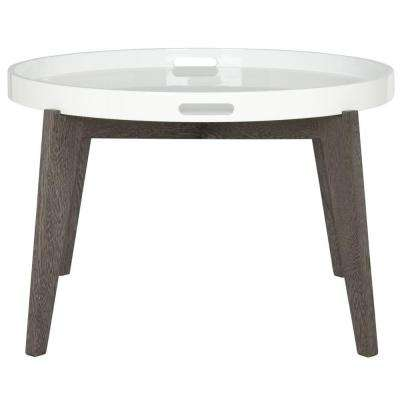 Echo White and Dark Brown End Table