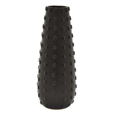 15.75 in. Black Ceramic Vase
