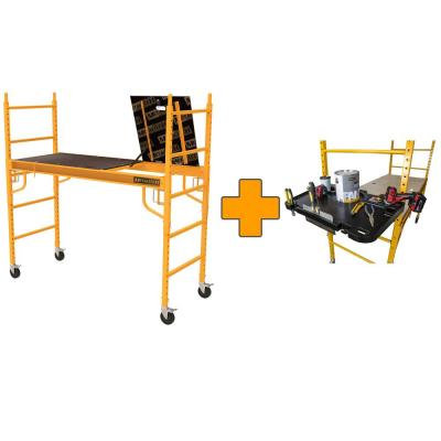Safeclimb 6 ft. x 6 ft. x 2-1/2 ft. Baker Style Scaffold 1100 lbs. Capacity with Tool Tray