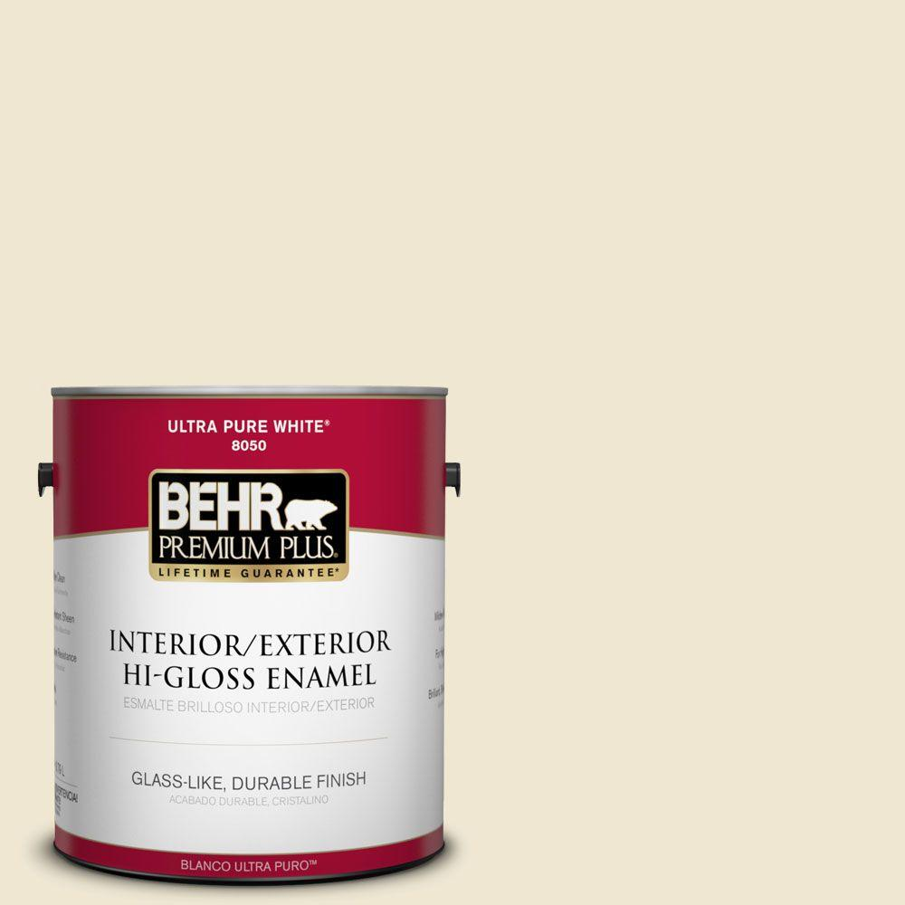 1-gal. #330E-1 Informal Ivory Hi-Gloss Enamel Interior/Exterior Paint