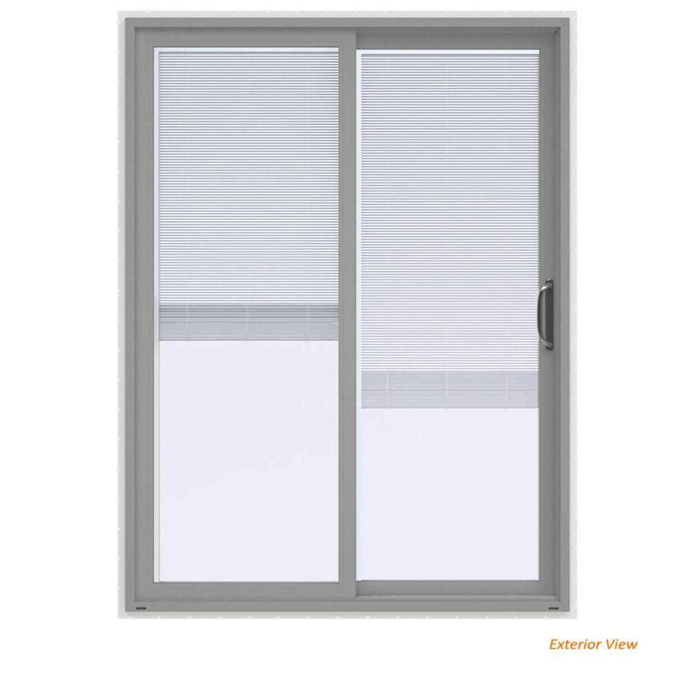 Jeld Wen 60 In X 80 In V 4500 Contemporary Silver Paint Vinyl