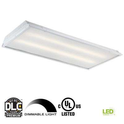 2 ft. x 4 ft. 192-Watt Equivalent White Prismatic Lens Integrated LED Commercial Grid Ceiling Troffer