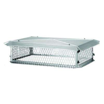 35 in. x 17 in. x 10 in. H Chimney Cap in Stainless Steel