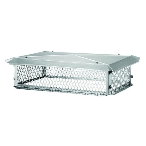 53 in. x 17 in. x 8 in. H Chimney Cap in Stainless Steel