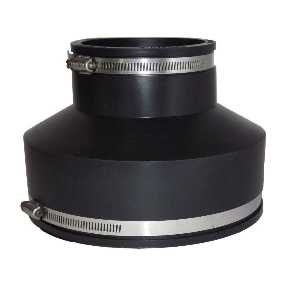 null 6 in. x 4 in. PVC Concrete to C.I. or Plastic Flexible Coupling