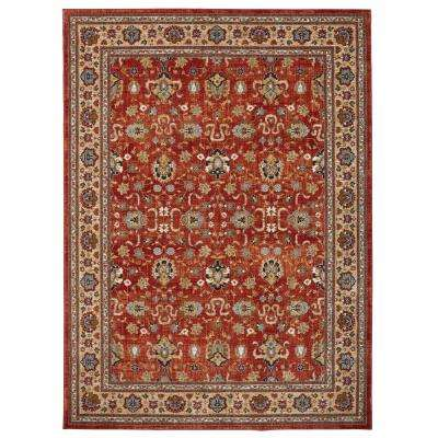 Ismenia Garnet 9 ft. 6 in. x 12 ft. 11 in. Indoor/Outdoor Area Rug