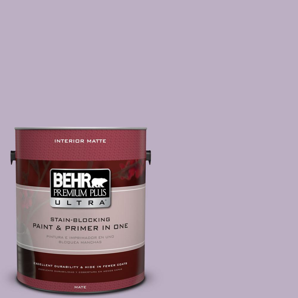 1 gal. #S100-3 Courtly Purple Matte Interior Paint