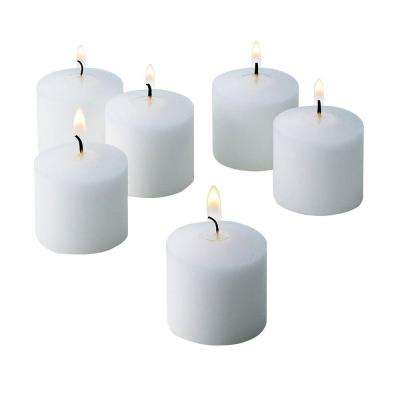 White Unscented Votive Candles (Set of 288)