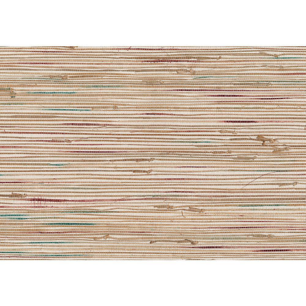 Kenneth James 72 sq. ft. Ken Khaki Grasscloth Wallpaper 53-65603