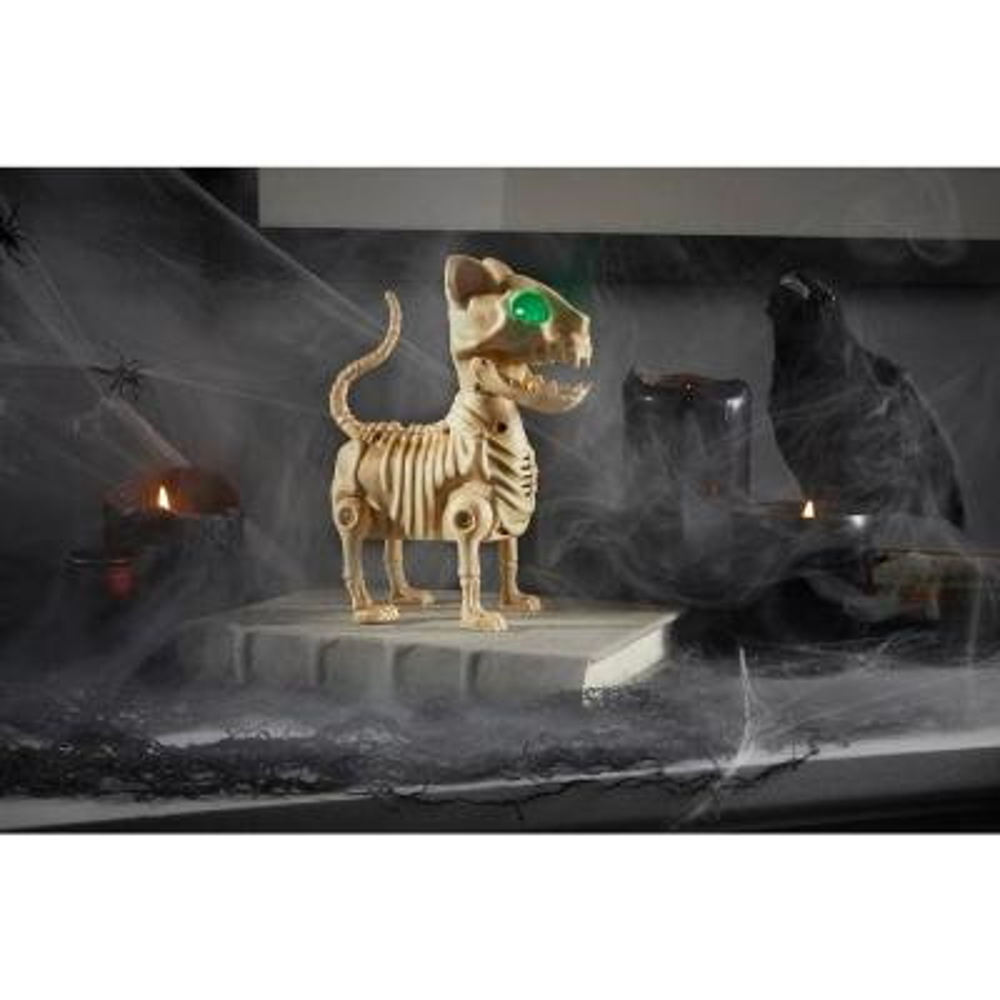 7 in ANIMATED LED Skeleton Mini Cat
