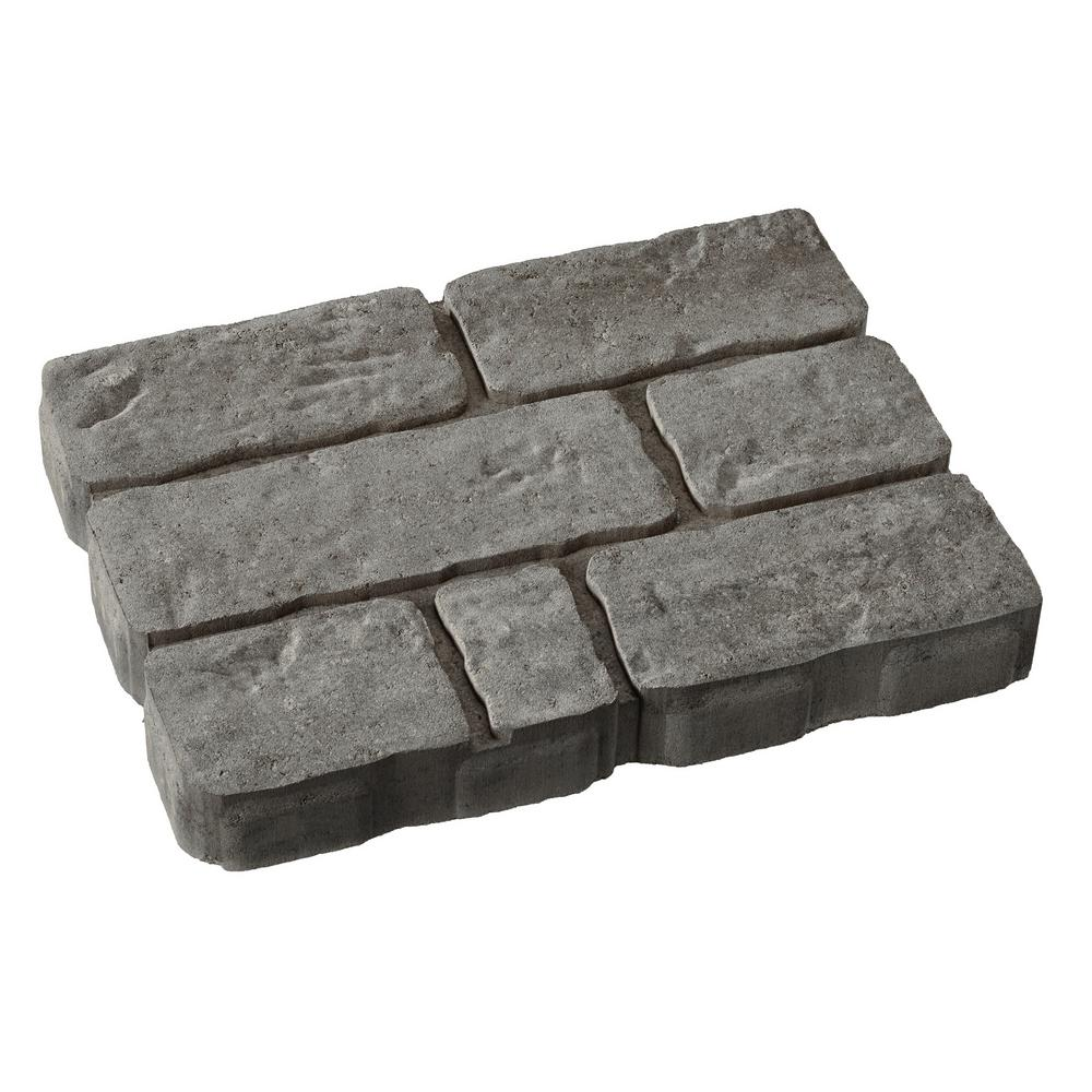 12 in. x 12 in. x 1.5 in. Pewter Square Concrete Step Stone-71200 ...