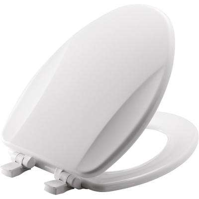Slow Close Lift-Off Elongated Closed Front Toilet Seat in White