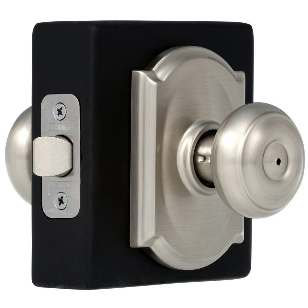 Schlage Georgian Aged Bronze Privacy Bed/Bath Door Knob with Camelot ...