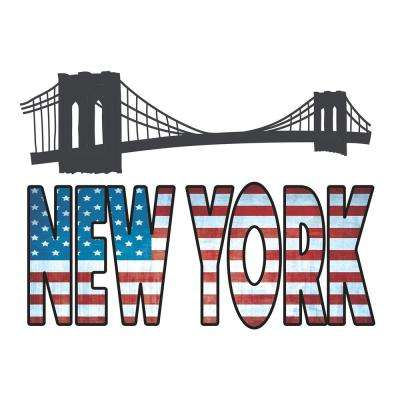 18.5 in. x 26.4 in. New York Wall Decal
