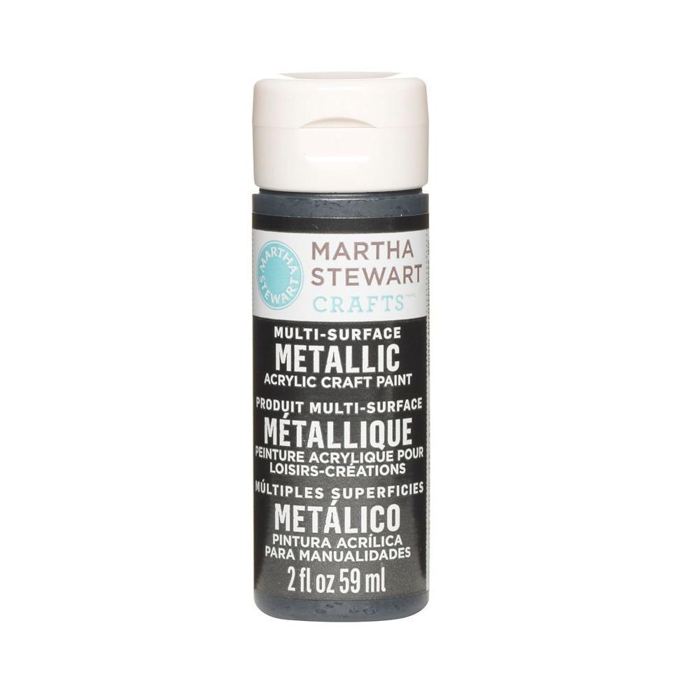 Martha Stewart Crafts 2-oz. Black Nickel Multi-Surface Metallic Acrylic Craft Paint