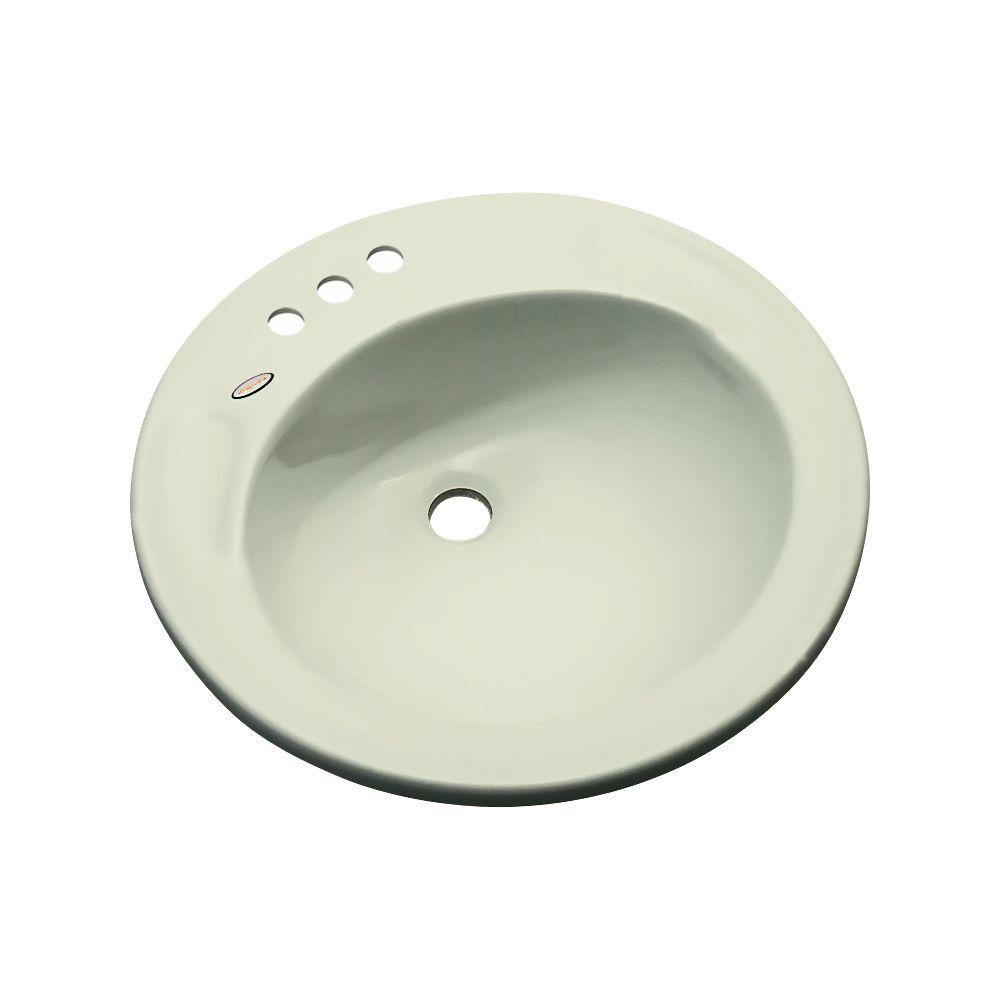null Province Drop-In Bathroom Sink in Jersey Cream