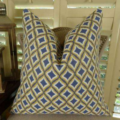 king lavender white and yellow down alternative double sided throw pillow