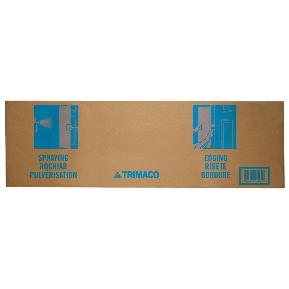 31 in. Cardboard Paint Spray Shield