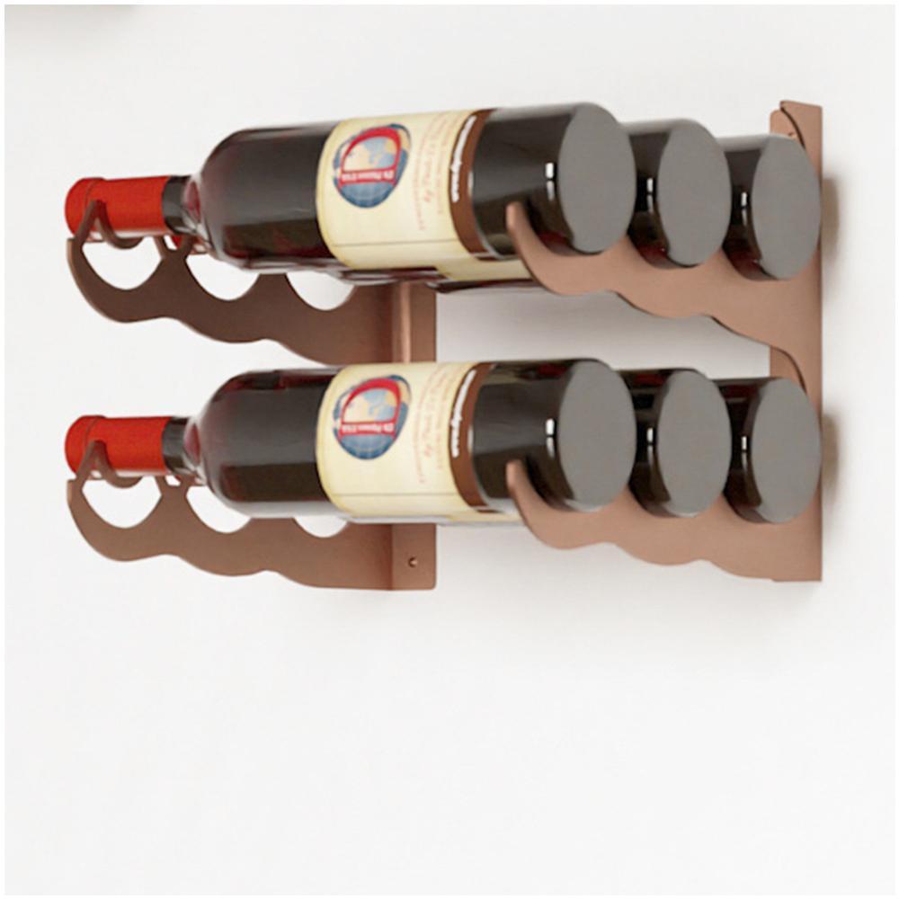 Eagle Edition 6-Bottle Wall Mounted Triple Row Wine Rack