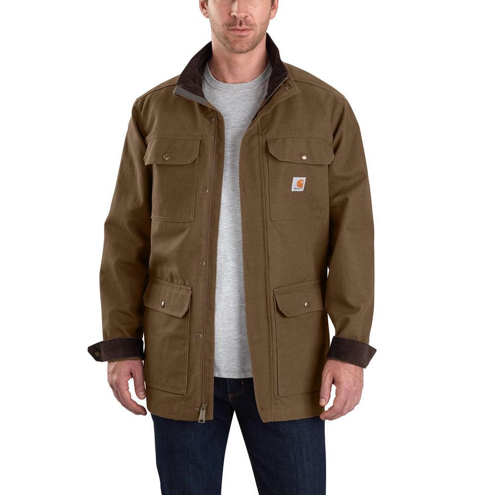 Men's Large Coffee Cotton Field Coat