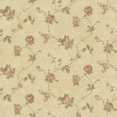 Darby Rose Taupe Trail Wallpaper