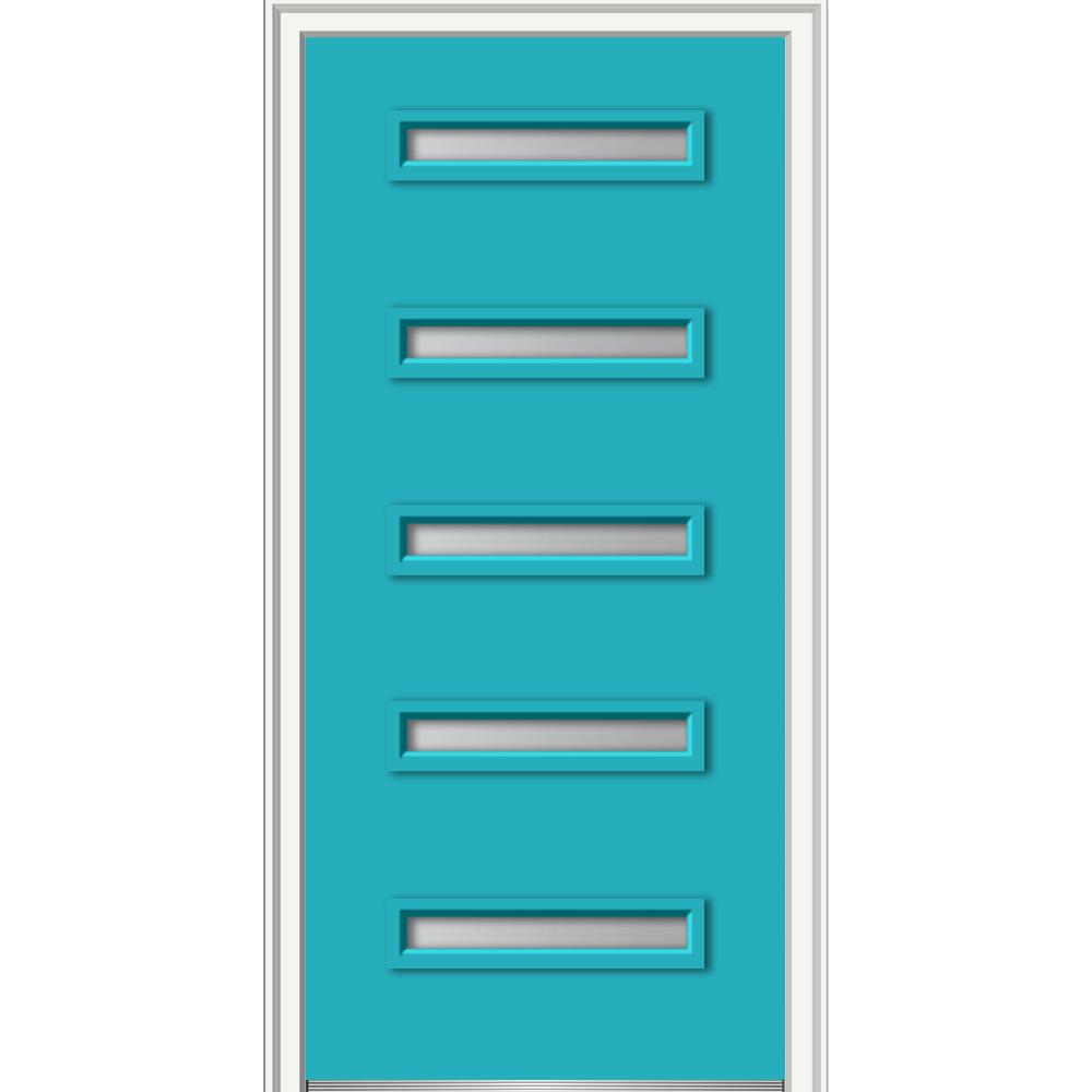 Mmi door 36 in x 80 in davina frosted glass left hand 5 for Home depot frosted glass door