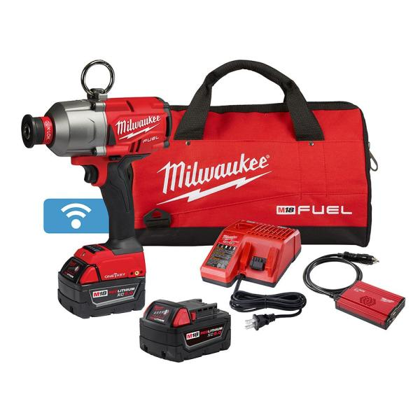 M18 FUEL ONE-KEY 18-Volt Lithium-Ion Brushless Cordless 7/16 in. Hex Impact Wrench Kit with 2 5.0 Ah Batteries Tool Bag