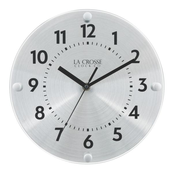 10 In. Orion Metal Analog Quartz Wall Clock