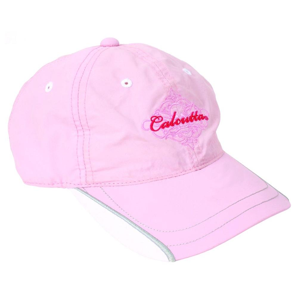 Calcutta Adjustable Strap Low Profile Sandwich Bill Cap in Pink with Fade-Resistant Logo-DISCONTINUED