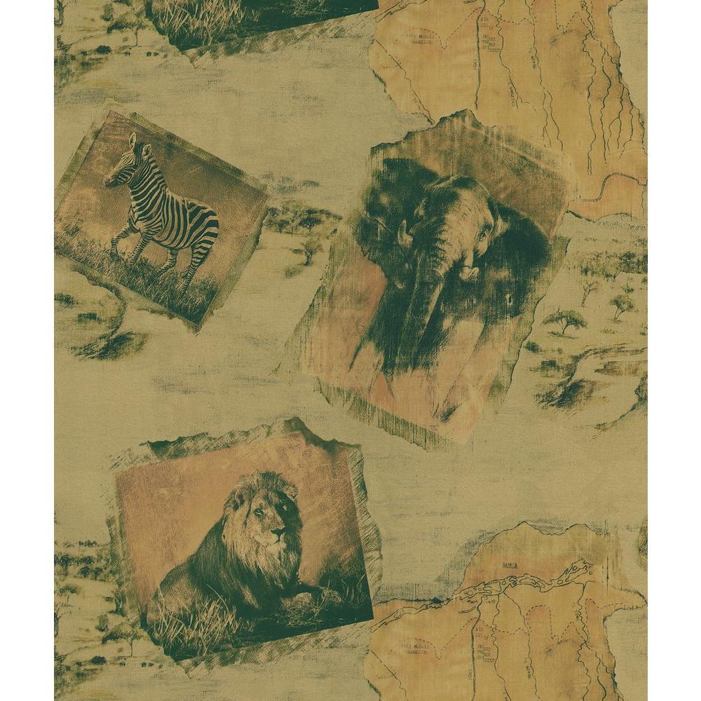 Safari Copper Animal Kingdom Wallpaper Sample