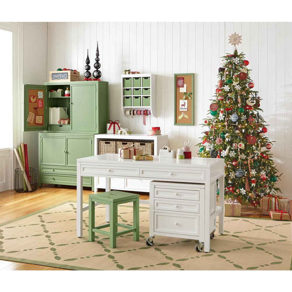 Martha Stewart Living Craft Space Rhododendron Leaf Green Wood Storage Cabinet (42 in. W)