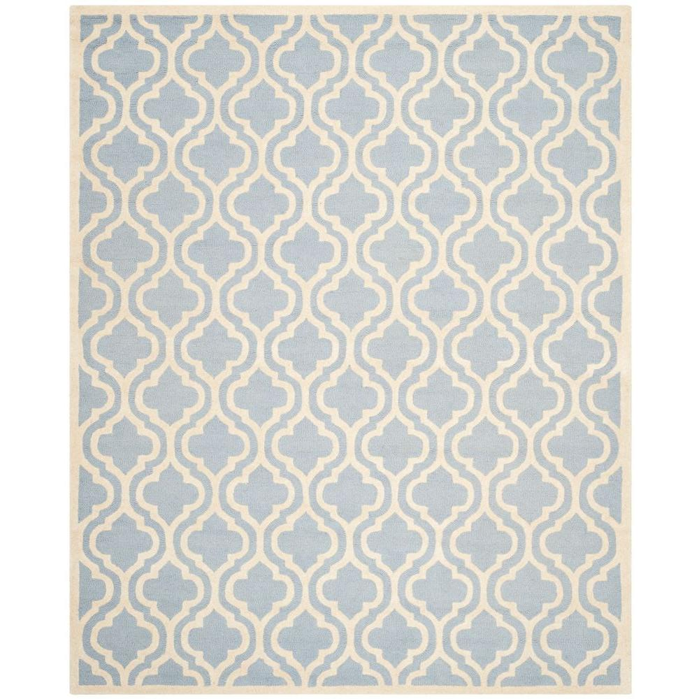 Safavieh Cambridge Light Blue Ivory 9 Ft X 12 Ft Area Rug Cam132a