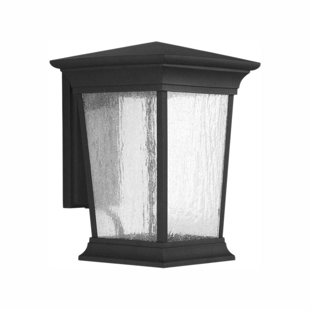 Progress Lighting Arrive Collection 1-Light 13 in. Outdoor Black LED Wall Lantern Sconce