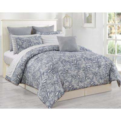 Mathylda 10-Piece Grey Queen Comforter Set