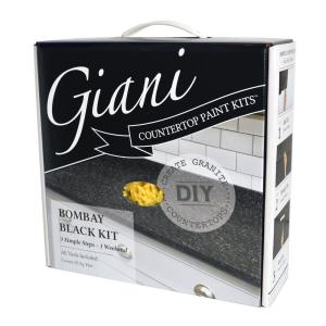 Great Giani Granite Bombay Black Countertop Paint Kit FG GI Bombay   The Home  Depot