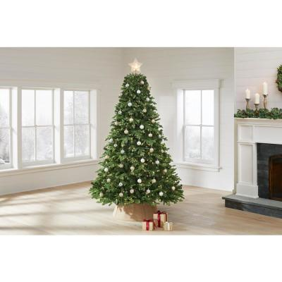 7.5 ft. Swiss Mountain Black Spruce Twinkly Rainbow Christmas Tree with 600 RGB LED Technology Lights