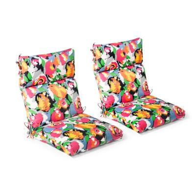 Floral Highback Outdoor Chair Cushions Outdoor Cushions The Home Depot