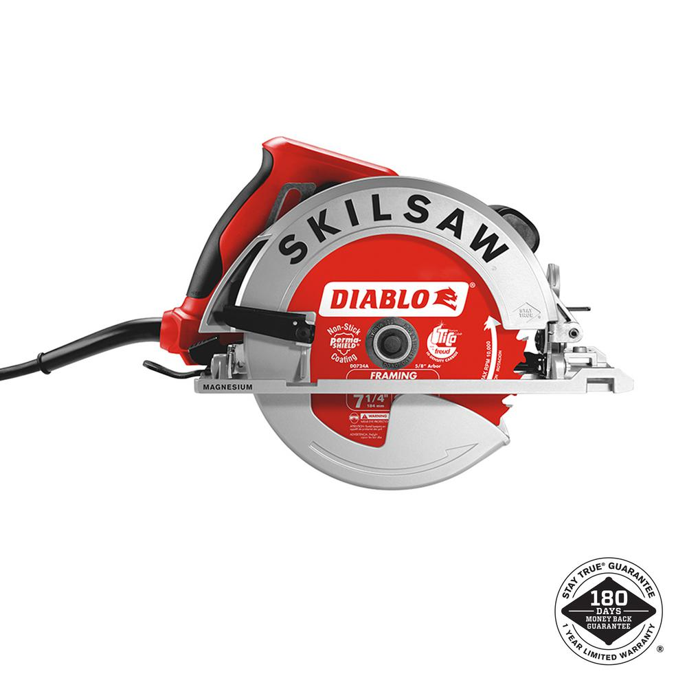 Skilsaw 15 amp corded electric 7 14 in magnesium sidewinder skilsaw greentooth Images