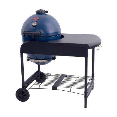 AKORN Kamado Kooker Charcoal Grill in Sapphire Blue with Cart