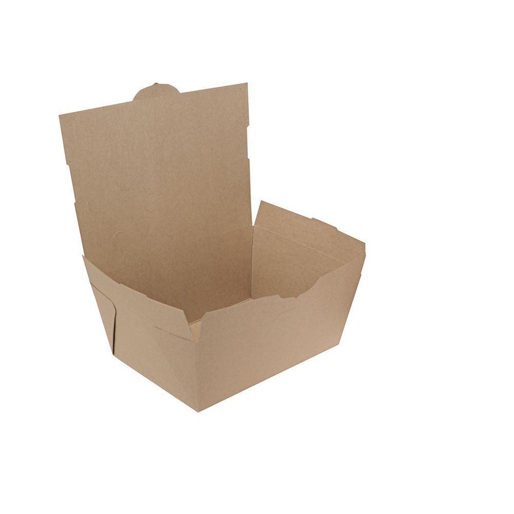 Southern Champion Tray ChampPak 7-3/4 W x 5-1/2 D x 3-1/2 H 4 lb. Carryout Boxes, Brown, 160 Per Case