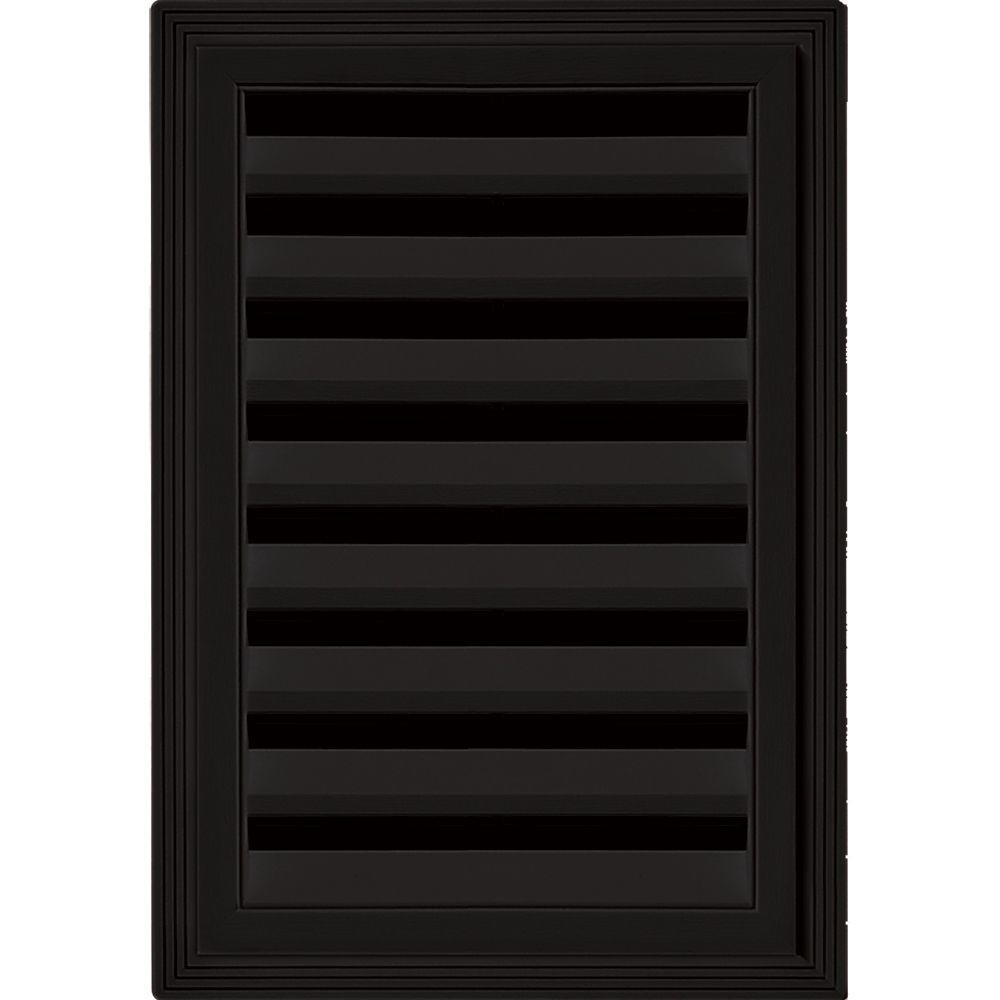 12 in. x 18 in. Rectangle Gable Vent #002 Black
