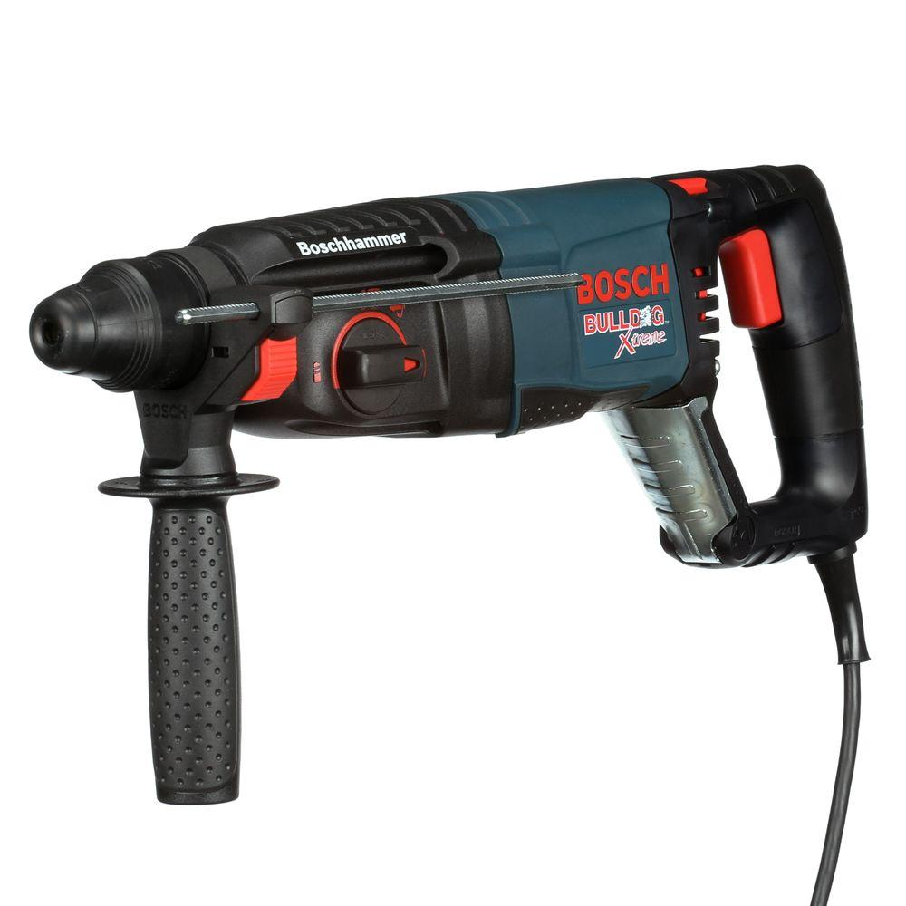 bosch bulldog xtreme 8 amp 1 in corded variable speed sds plus rotary hammer drill with. Black Bedroom Furniture Sets. Home Design Ideas