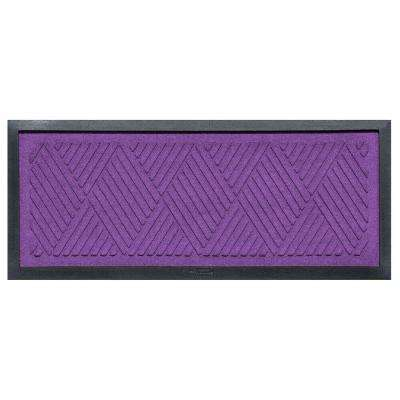 Purple 15 in. x 36 in. Diamonds Boot Tray