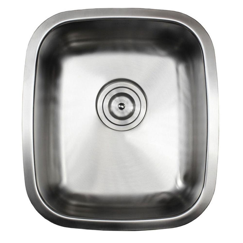 Undermount 18-Gauge Stainless Steel 15-7/8 in. x 18 in. x 8 in. Single Bowl Kitchen/ Bar Sink