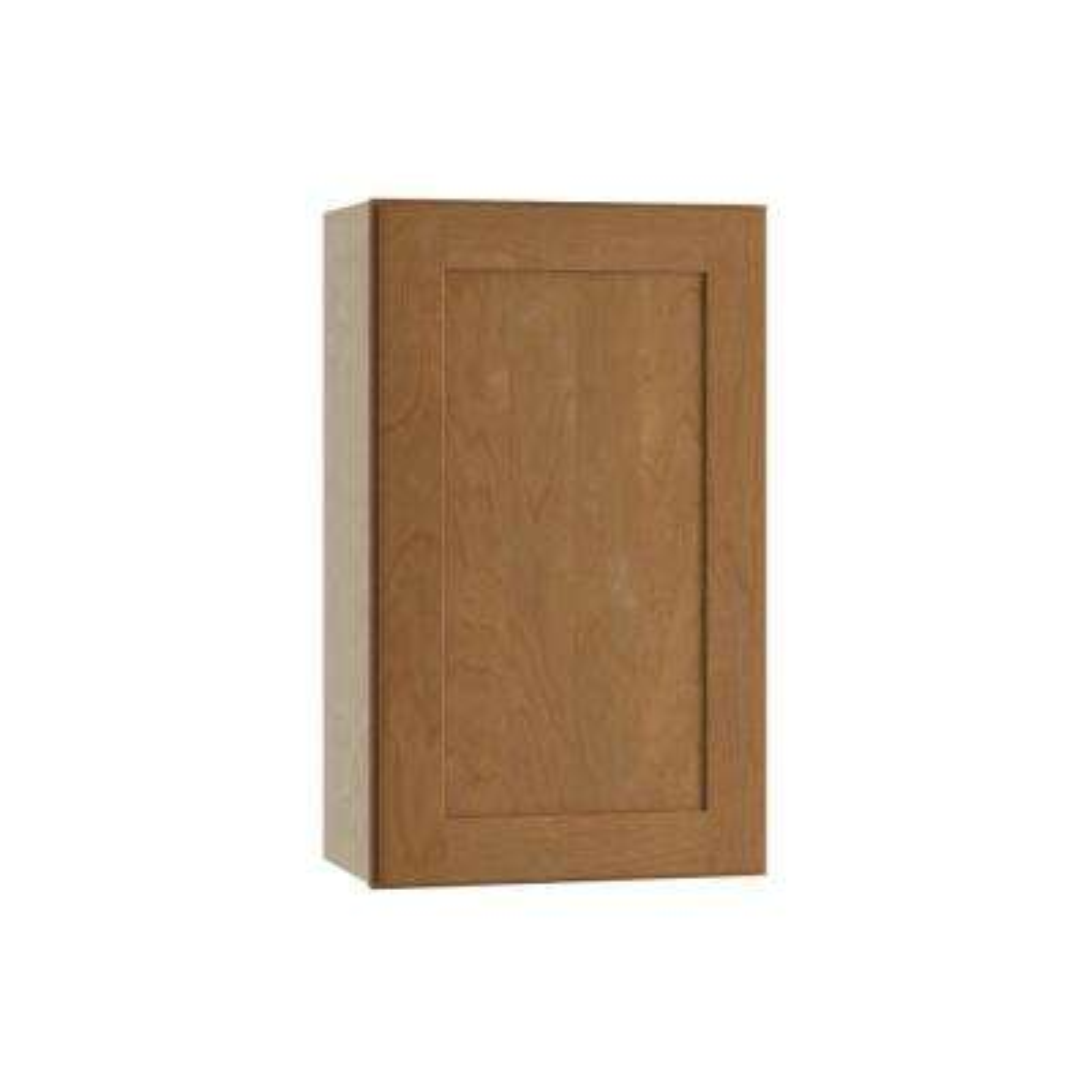 Hargrove Assembled 21x30x12 in. Single Door Hinge Left Wall Kitchen Cabinet in Cinnamon