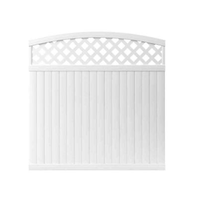 Lewiston 6 ft. H x 6 ft. W White Vinyl Arched Lattice Top Unassembled Fence Panel