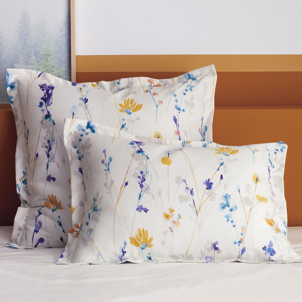 The Company Store Bryson Floral Multicolored 300 Thread Count Wrinkle-Free Sateen Euro Sham was $44.0 now $32.99 (25.0% off)