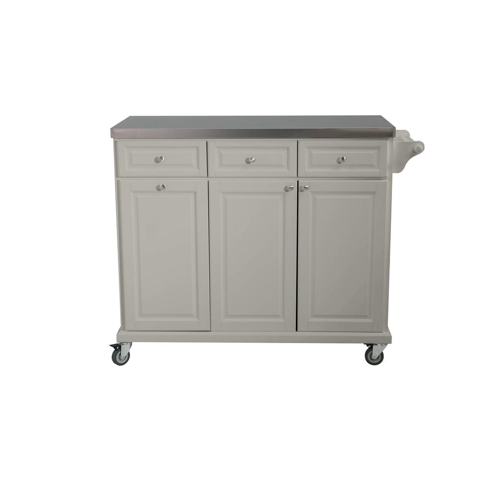Sunjoy Buckhead Gray Body With Stainless Steel Top Kitchen