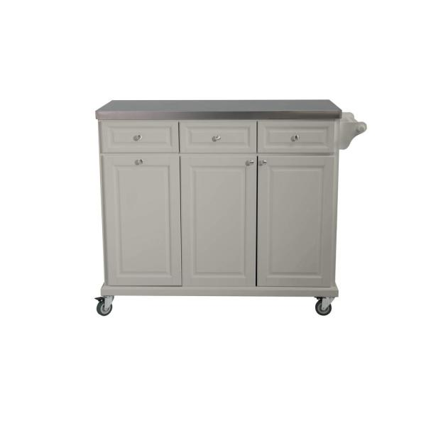 Sunjoy Buckleigh Movable Kitchen Island Cart with Stainless ...
